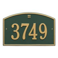 Whitehall Products™ Cape Charles 1- Line Address Plaque in Green/Gold