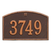 Whitehall Products™ Cape Charles 1- Line Address Plaque in Antique Copper