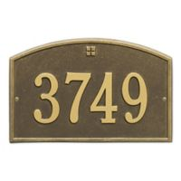 Whitehall Products™ Cape Charles 1- Line Address Plaque in Antique Brass