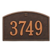 Whitehall Products™ Cape Charles 1- Line Address Plaque in bronze