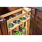 Rev-A-Shelf 448UT-BCSC-8C 8 in. Pull-Out Wood Base Utensil Organizer w/3 Bins and Soft-Close Slides