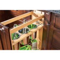 Rev-A-Shelf® Base Cabinet 8-Inch Pullout Utensil Base Organizer in Natural