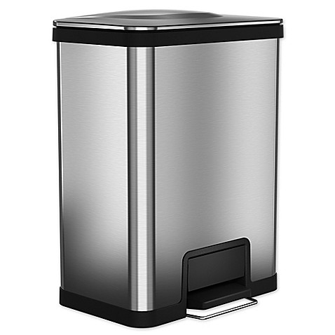 Halo Airstep Feather Light 49 Liter Step Trash Can In