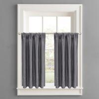 Twilight Polyester Window Curtain Tier Pair in Grey