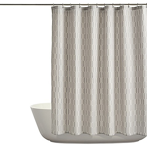 Ordinaire Auburn Shower Curtain In Grey