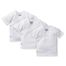 Gerber® 3-Pack Side Snap Shirts in White