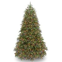 National Tree Company 7.5-Foot Jersey Fraser Medium Fir Tree with Multicolor LED Lights