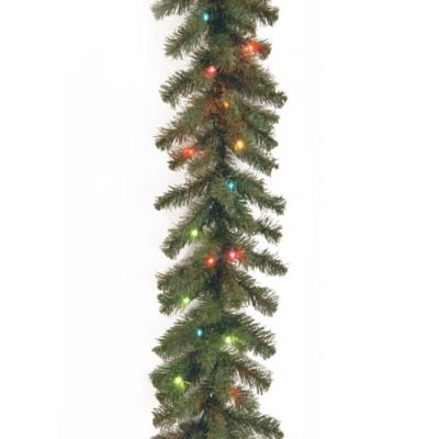 National Tree Company 9-Foot Kincaid Spruce Garland with Multi-Colored Lights