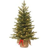 national tree 3 foot nordic spruce battery operated pre lit christmas tree with