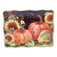 Certified International Botanical Harvest© by Susan Winget Rectangular Platter