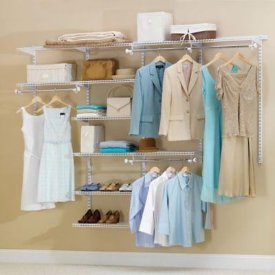 Closet Organization U003e Rubbermaid® 4 Foot To 8 Foot Deluxe Closet Organizer  Kit
