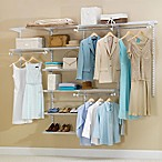 Rubbermaid® 4-Foot to 8-Foot Deluxe Closet Organizer Kit in White