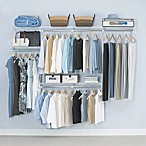 Rubbermaid® 4-Foot to 8-Foot Closet Organizer Kit in White