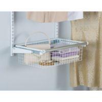 Rubbermaid® Sliding Storage Basket for Closet Organizer Kits in White