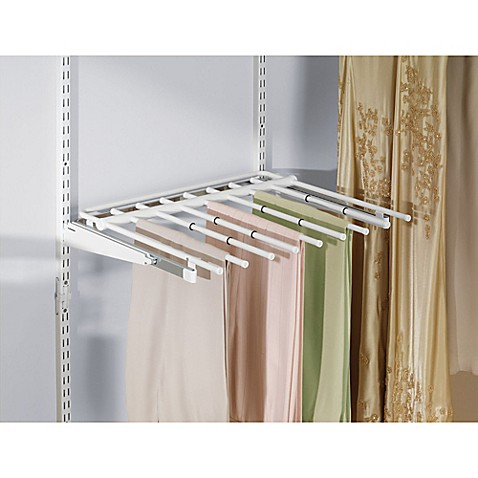 rubbermaid 7 rod sliding pants rack for closet organizer