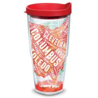 Tervis® 24-oz. Ohio Typography Map Clear Tumbler