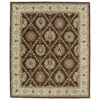 Kaleen Taj Panel Lattice 5-Foot x 7-Foot 9-Inch Area Rug in Chocolate