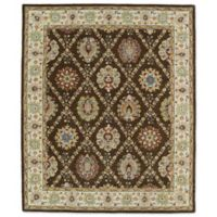 Kaleen Taj Panel Lattice 7-Foot 6-Inch x 9-Foot Area Rug in Chocolate