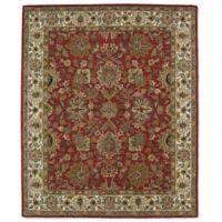 Kaleen Taj Kashan 5-Foot x 7-Foot 9-Inch Wool Rug in Red