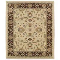 Kaleen Taj Amol 7-Foot 6-Inch x 9-Foot Wool Rug in Gold