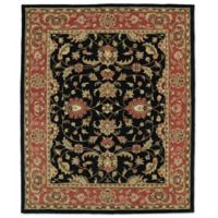 Kaleen Taj Amol 7-Foot 6-Inch x 9-Foot Wool Rug in Black