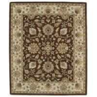 Kaleen Taj Khoy 5-Foot x 7-Foot 9-Inch Wool Rug in Chocolate
