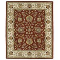 Kaleen Taj Khoy 5-Foot x 7-Foot 9-Inch Wool Rug in Rust
