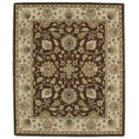 Kaleen Taj Khoy 8-Foot x 11-Foot Wool Rug in Chocolate