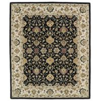 Kaleen Taj Beneh 8-Foot x 11-Foot Wool Rug in Black