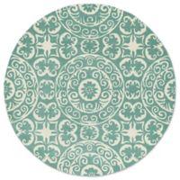 Kaleen Tara Delphi 9-Foot 9-Inch Round Area Rug in Mint