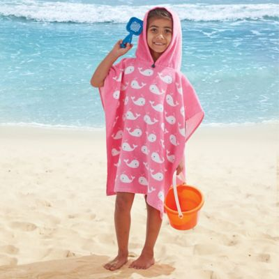 kids hooded beach towels. Pink Whale Kids Hooded Towel Beach Towels S