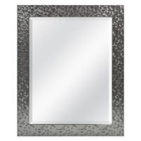 Tiled 26.5-Inch x 32.5-Inch Square Mirror in Brushed Silver