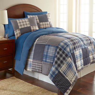 in pin bedding collections comforter puff by blue brody and collection isle green grand plaid sets adult nautica mizone