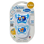 Dr. Brown S 2 Pack Dr.brown Prevent Butterfly 2pk Paci Blu Stg2 6-12m Blue