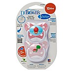 Dr. Brown S 2 Pack Dr.brown Prevent Butterfly 2pk Paci Pk Stg3 12+m Pink