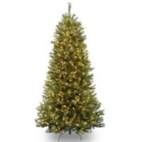 National Tree 7.5-Foot Rocky Ridge Slim Pine Pre-Lit Christmas Tree with Clear Lights