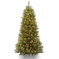 National Tree 7.5-Foot Rocky Ridge Slim Pine Pre-Lit Christmas Tree with Clear Lights