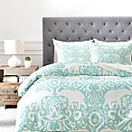Deny Designs Elephant Queen Duvet Cover in Green
