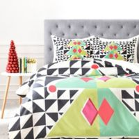 DENY Designs Geo Pop Tree Queen Duvet Cover