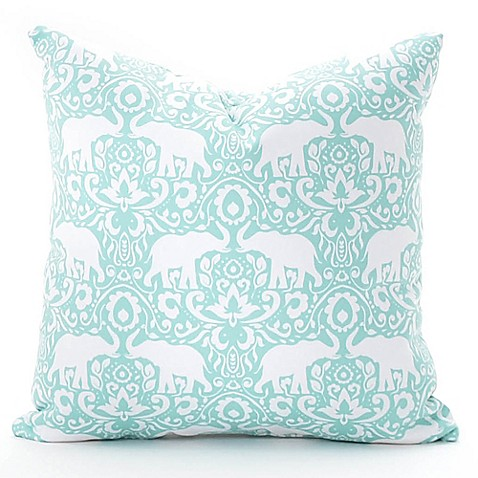 Elephant Throw Pillow Bed Bath And Beyond : Deny Designs Elephant 18-Inch Square Throw Pillow in Green - Bed Bath & Beyond