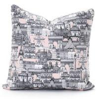 DENY Designs Paris Toile Sugar Pink Square Throw Pillow