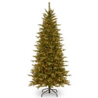 National Tree 7.5-Foot Slim Sierra Spruce Pre-Lit Christmas Tree with Clear Lights