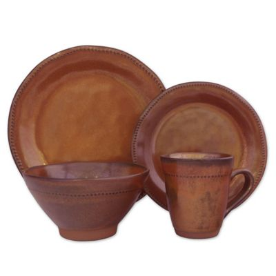 Sango Cyprus 16-Piece Dinnerware Set in Sienna  sc 1 st  Bed Bath u0026 Beyond & Buy Sango Dinnerware from Bed Bath u0026 Beyond
