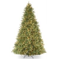 National Tree 9-Foot Tiffany Fir Feel-Real® Hinged Christmas Tree with Clear Lights