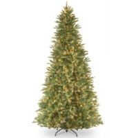 National Tree 12-Foot Tiffany Fir Slim Hinged Christmas Tree with Clear Lights