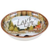 Certified International Lake Life by Susan Winget Pasta Serving Bowl