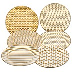 Certified International Elegance Gold Tapered Dessert Plates (Set of 6)