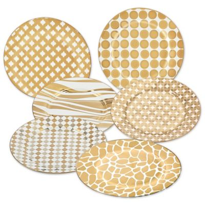 Certified International Elegance Gold Barrel Dessert Plates (Set of 6)  sc 1 st  Bed Bath \u0026 Beyond & Buy Dessert Plate Set from Bed Bath \u0026 Beyond