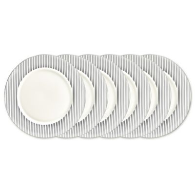 Certified International Elegance Silver Dinner Plates (Set of 6)  sc 1 st  Bed Bath u0026 Beyond : bed bath and beyond dinner plates - pezcame.com