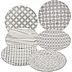 Certified International Elegance Silver Barrel Dessert Plates (Set of 6)